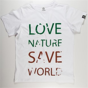 Love Nature Save World Erkek Basic Tshirt