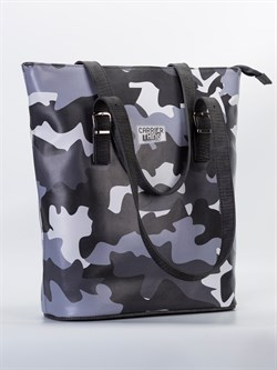 Tote Mode Camo Gray Omuz Çantası